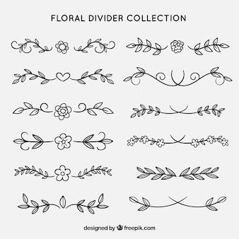 Collectorsverzameling met bloemenornamenten