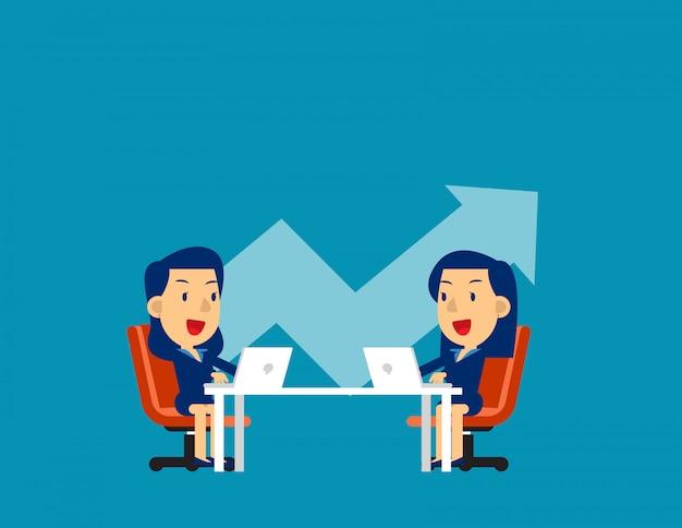 Collega's bespreken toekomstplannen
