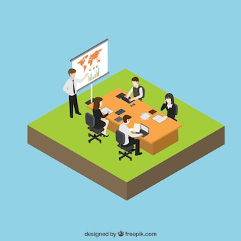 Collega's in een kantoor