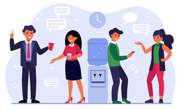 Collega's ontmoeten, zakelijk gesprek