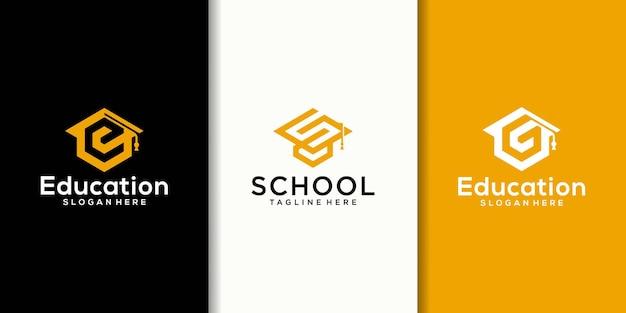 College hoed logo combinatie collectie, afstudeerpet