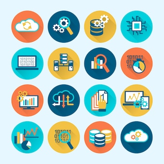 Coloful business icons