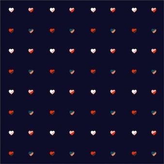 Coloful harten herhalen regelmatig op donker marineblauwe achtergrond