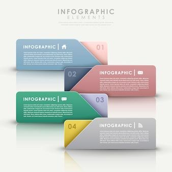 Coloful modern design banners sjabloon infographic elementen