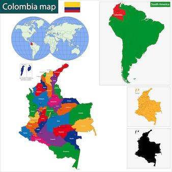 Colombia kaart