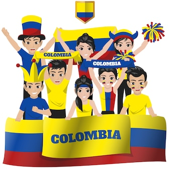 Colombia nationale team supporter
