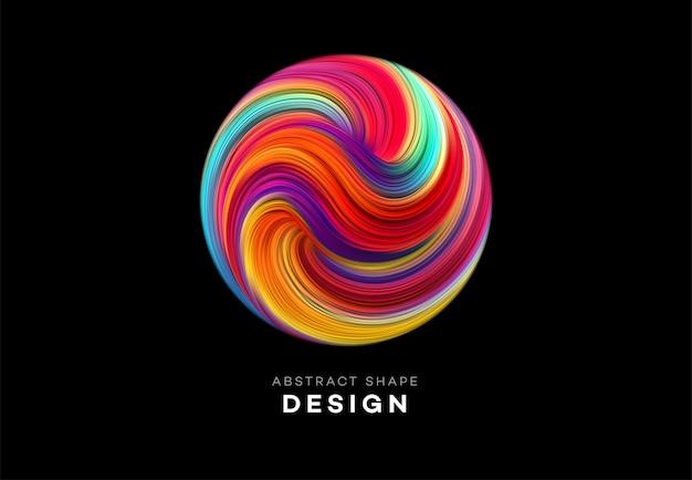 Color flow abstracte vorm achtergrond