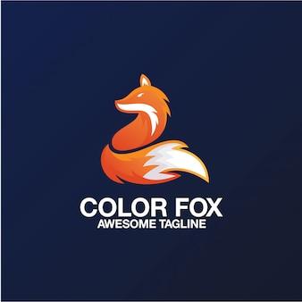 Color fox logo design geweldige inspiratie-inspiratie