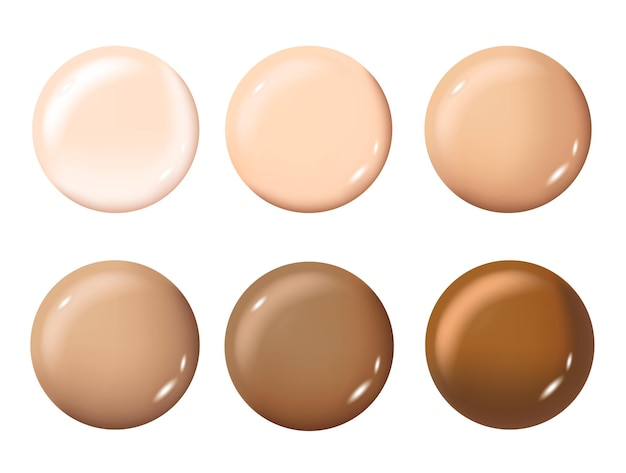Color shades palette for foundationmake-up cosmetica voor spandoekposter