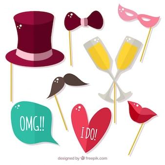 Colorful party accessoires