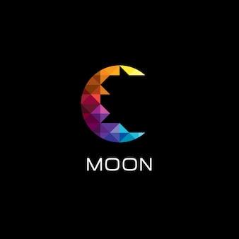Colorfull moon icon logo