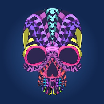 Colorfull patroon schedelhoofd