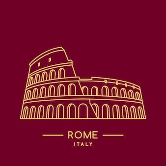 Colosseum lijntekeningen.