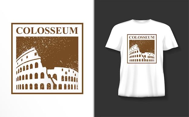 Colosseum typografie t-shirt