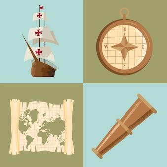 Columbus dag vier iconen