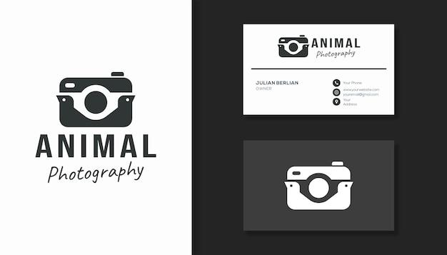 Combinatie van camera- en vogellogo voor fotografiebedrijf