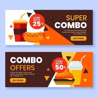 Combo-aanbiedingen - banners concept