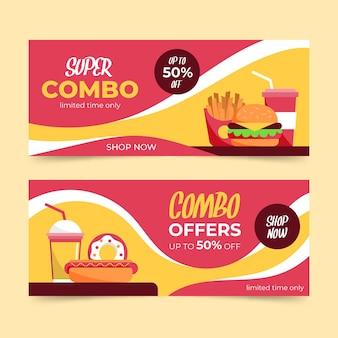 Combo-aanbiedingen - banners met korting