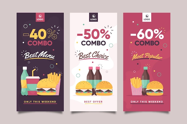 Combo biedt banners concept