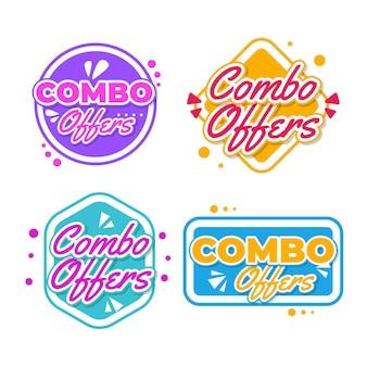 Combo biedt labels concept