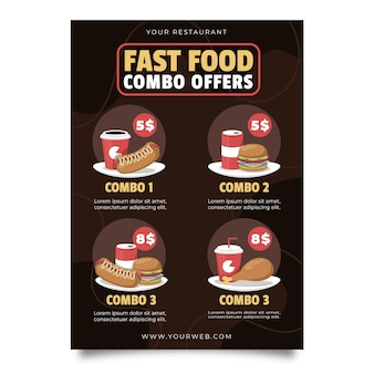 Combo-maaltijden bieden een poster
