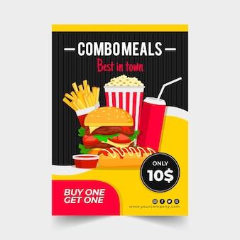 Combo maaltijden - poster concept