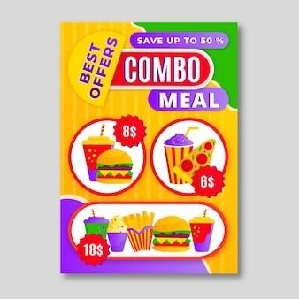 Combo-maaltijden - poster