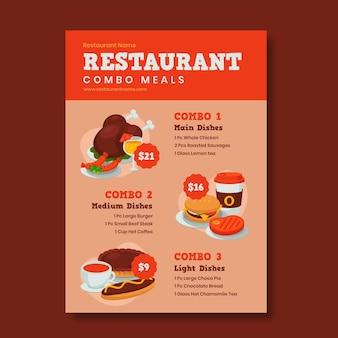 Combo-maaltijden - postersjabloon