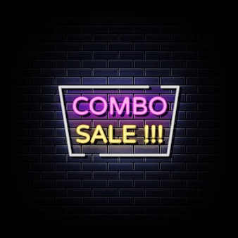 Combo sale neon signs style