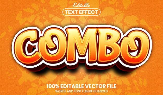 Combo-tekst, bewerkbaar teksteffect in lettertypestijl