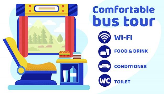 Comfortabele bustournering.
