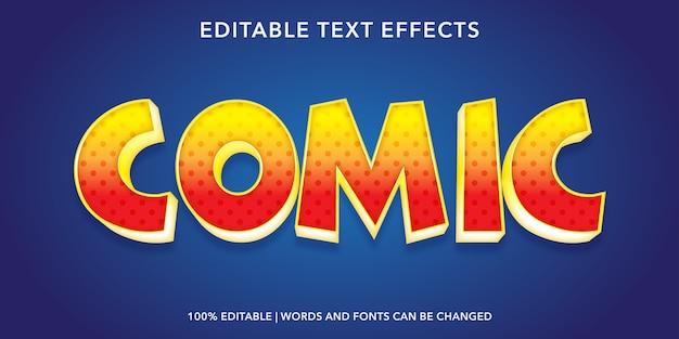Comic bewerkbaar teksteffect