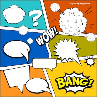 Comic book gratis template