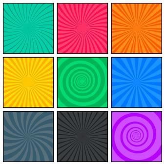 Comic book lege paginasjabloon met verschillende patroonstijl