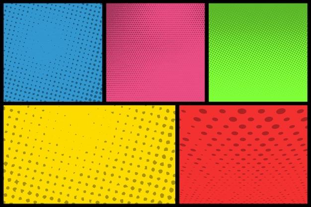 Comic book pagina-achtergrond met halftoonpatroon