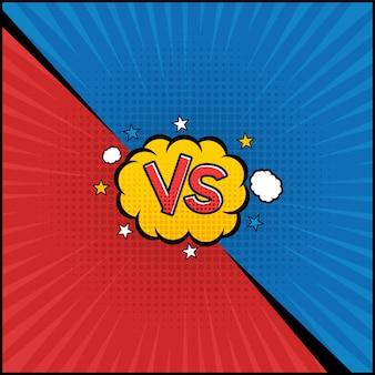 Comic book versus sjabloon
