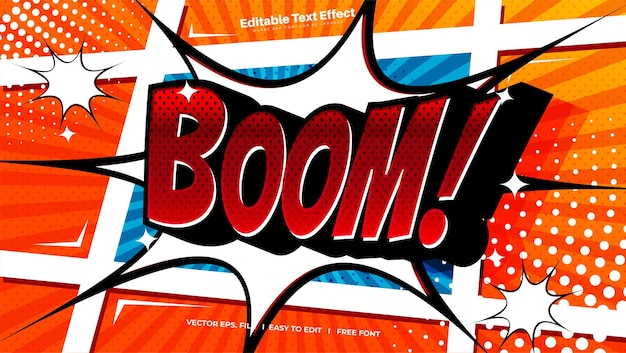 Comic boom-teksteffect