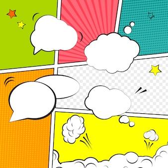 Comic lege lay-out sjabloon pop-art stijl.
