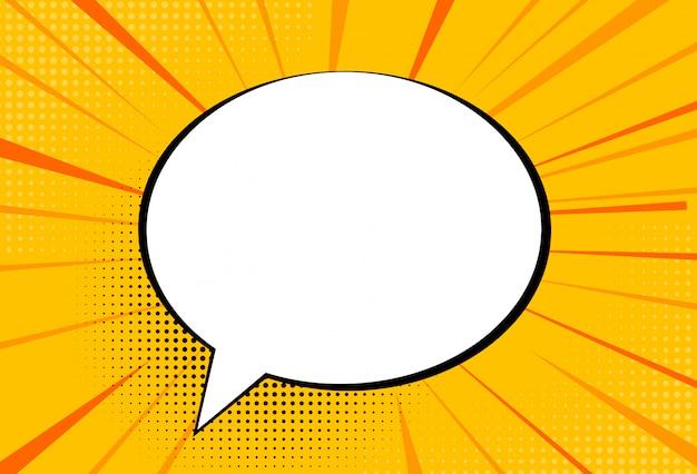 Comic pop-art stijl tekstballon achtergrond. illustratie
