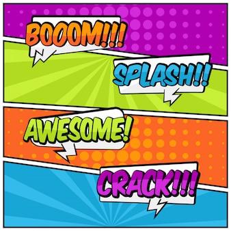 Comic specch bubbels tekststijl