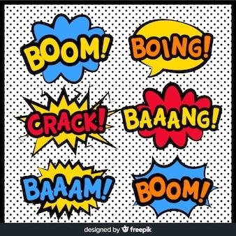 Comic speech bubble superhero collection