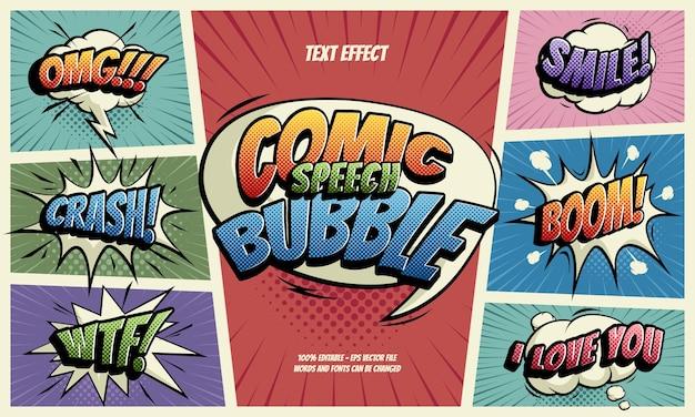 Comic speech bubble tekstefect