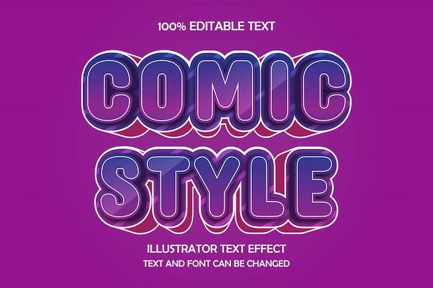 Comic style, 3d bewerkbare teksteffect moderne boogstijl
