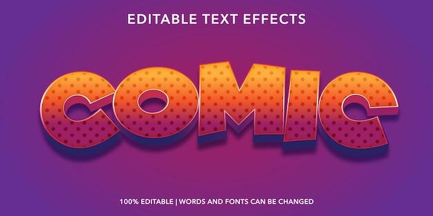 Comic text style bewerkbaar teksteffect