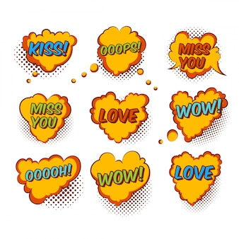 Comic valentine heart