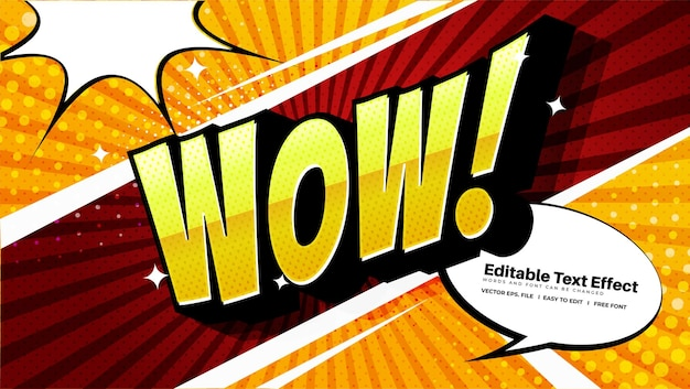 Comic wow-teksteffect