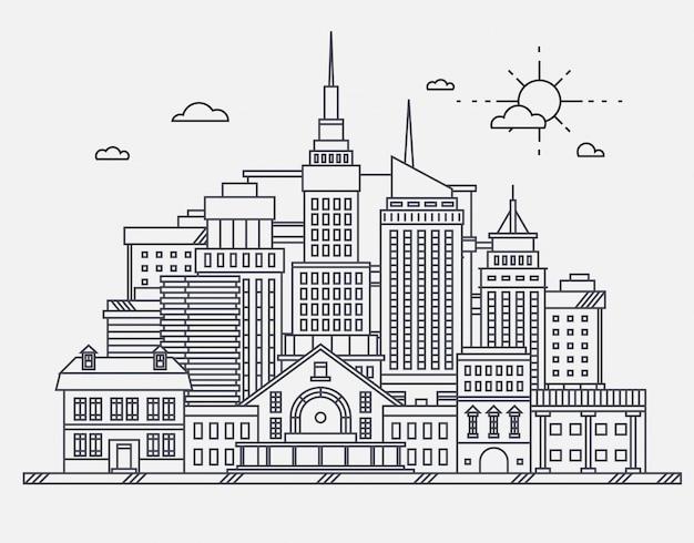 Commercieel centrum van grote stadsstraat