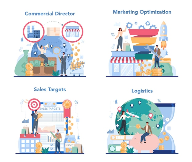 Commercieel directeur concept set