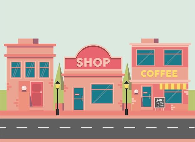 Commercieel straatbeeld