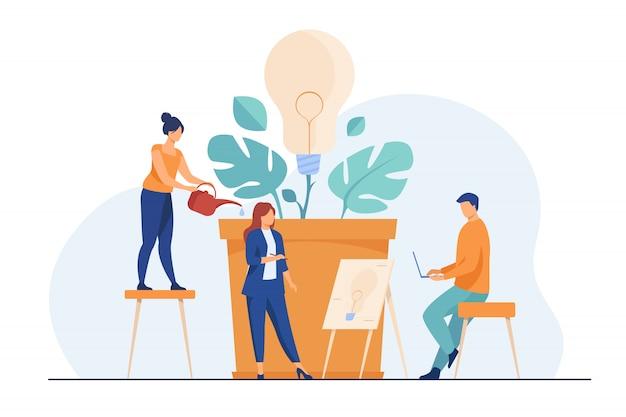 Commercieel team dat nieuwe ideeën bespreekt
